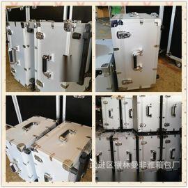 定制铝合金黑色铝箱 防震eva海绵文化传媒宣传铝箱 定制出口品质