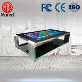 玛威尔42寸不锈钢互动触摸桌 落地式多点触控广告机