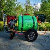 志成手推式汽油打药机药箱式园林洒水机
