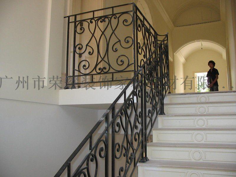 廣州別墅室內扶手 會所鐵藝欄杆 別墅室梯欄