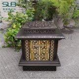 中式仿古立柱燈展示區拉絲仿銅特色矮柱燈水景步道燈