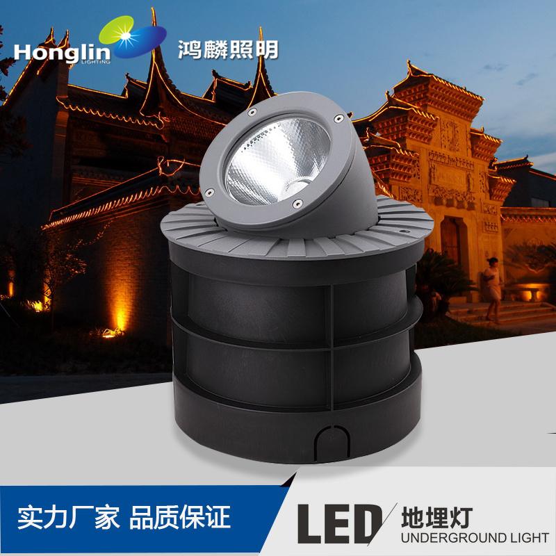 新款侧投光LED地埋灯 COB墙角地面投射灯