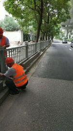 上海市政公路围栏现场安装图