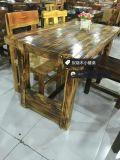 現代簡約餐桌,天津可折疊餐桌,實木炭燒木楊木