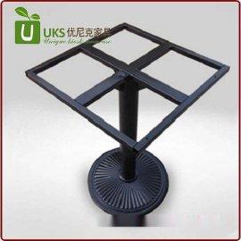 厂家直销可调节金属餐台脚定做不锈钢铸铁餐桌脚