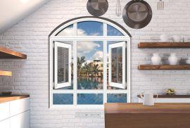 65系列铝合金双平开窗纱一体窗