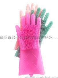 硅胶手套洗澡洗衣服洗碗多种用途