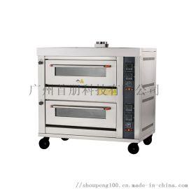 首朋2层4盘燃气烤箱商用烤炉广州烤箱厂家