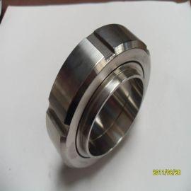 SMS标准304不锈钢活接 由任配件密封垫圈全套 圆螺纹卫生级活接头