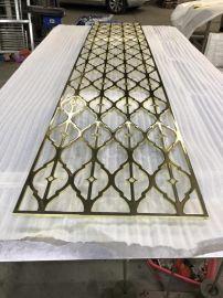 供应不锈钢会所酒店屏风定制不锈钢钛金拉丝屏风利创