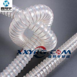深圳鑫翔宇厂家耐磨聚氨酯钢丝增强软管可任间弯曲伸缩60mm