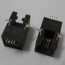 RJ11贴片式电话插座4P4C接口SMT