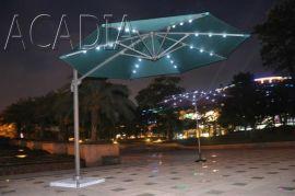 可360度旋转太阳伞,罗马伞,带LED太阳能灯伞(AC-U2305)