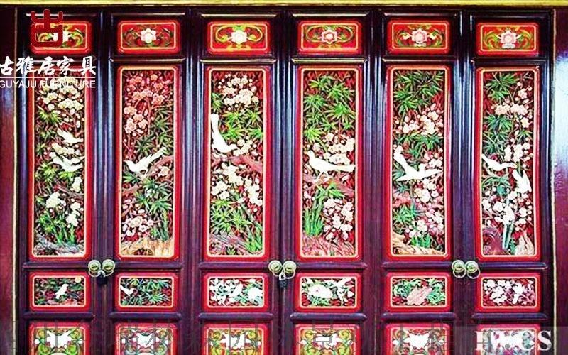 攀枝花四合院門窗廠,精美仿古雕花門窗、門頭設計定製