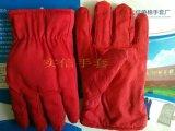 红点胶棉手套,  红点塑棉手套, 红颗粒人造毛防滑棉手套