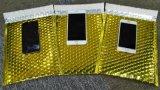 定製:特種電商物流專用快遞信封袋 金黃色鍍鋁膜氣泡信封袋 國際小包包裝袋