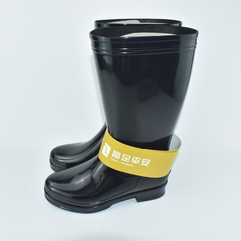 橡膠底水鞋中筒黑色水靴耐酸鹼雨靴 防滑耐磨pvc勞**魚雨鞋男女