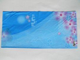 蓝底梦幻花魔术头巾(T-2025)