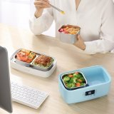 生活元素電熱飯盒 加熱保溫 可插電 迷你雙層蒸飯盒