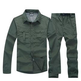 速幹衣透氣排汗速幹衣褲套裝男長短袖可拆卸速幹服