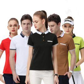 夏季polo衫工作服有领短袖t恤定制印字logo企业文化广告衫工衣女