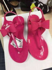 2017新款民族 女凉鞋波西米亚水钻夹趾花布编织女鞋批发一件代发