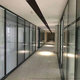 北京隔音墙钢化磨砂玻璃高隔墙室内高隔断墙