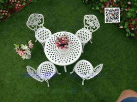 会所户外铸铝桌椅、别墅欧式铁艺桌椅、庭院户外铸铝家具