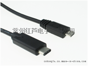 热销多功能数据线 转接线 USB type-c to USB2.0 micro 5pin MALE CABLE