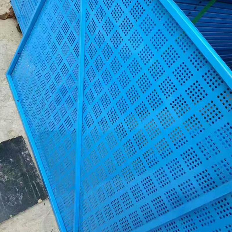 蓝色建筑工地爬架网  高层防护网 冲孔网厂家直销