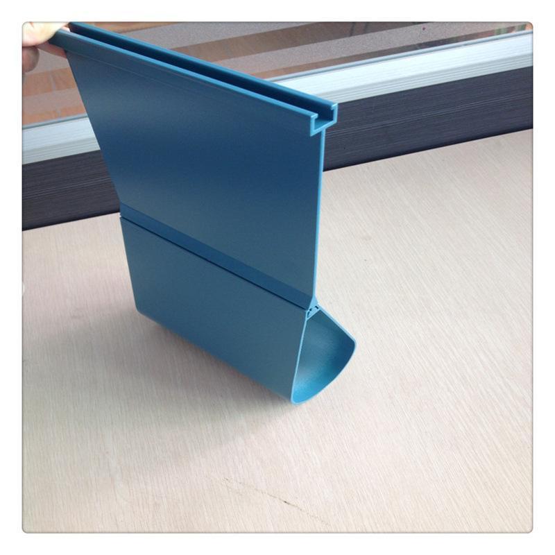 滴水铝挂片天花 定制高边蓝色铝合金铝挂片吊顶