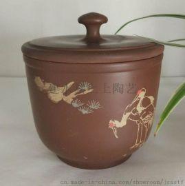 建水紫陶茶具茶壺茶葉罐主人杯
