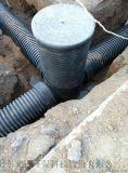山東HDPE中空壁纏繞管市政排污管道路地埋管