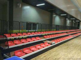 广鑫伸缩观众看台座椅手动电动看台座椅