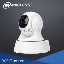 摄像头监控器家用高清手机无线wifi远程夜视网络语音对讲报 摇头