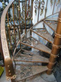 酒店钢结构楼楼梯 旋转楼梯 铁楼梯 钢铁楼梯