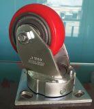 韓式4寸抗衝擊活動鐵芯PU聚氨酯腳輪 廠家直銷