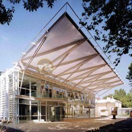 泳池景观张拉膜结构设计泳池膜结构遮阳棚雨棚安装