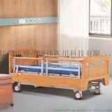 可升降护栏养老院护理床 实木床屏三功能电动病床