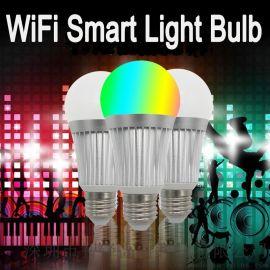 7W wifi智慧燈泡 RGBCW七彩 E27燈頭 alexa語音燈泡