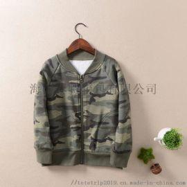 泰特廠家供應兒童加絨軍綠色外套