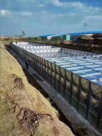 提供定制建筑屋面消防水箱 装配式玻璃钢水箱