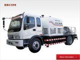 民乐重工HBCS90型(潍柴道依茨柴油机,德国力士乐泵组与阀组)车载式混凝土泵