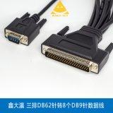鑫大瀛 多串口 PCI8串口 三排62针转8串口 DB9 8串口
