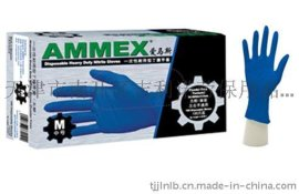 Ammex 爱马斯 一次性丁腈手套 APFNC44100 (无粉、指麻、中号)