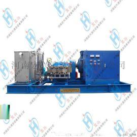 化肥厂管道结垢清洗  冷水工业电动高压清洗机