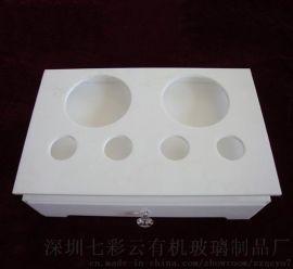 七彩云亚克力酒店客房用品收纳盒水杯一次性用品盒