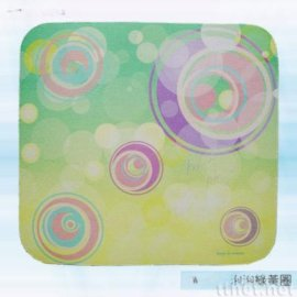 泡泡綠黃圈滑鼠墊(AW-007)