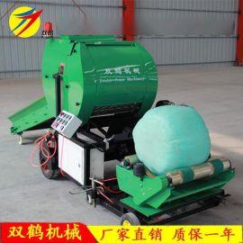 山东双鹤厂家现货直销打捆包膜机组 皮带输送进料打捆机全自动款
