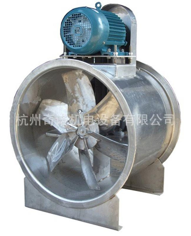 订做KT40-5型0.75KW不锈钢耐高温电机外置式管道轴流风机